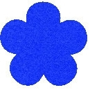 Acryl vilt royal blauw 45cm bij 30cm