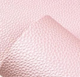 mooie kwaliteit pu leer Licht roze struktuur glans