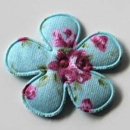 35mm blauwe rozenprint bloem