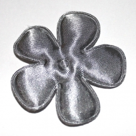 47mm satijn bloem grijs