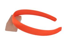 Diadeem oranje satijn 15mm