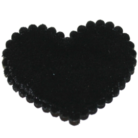 Fluweel hart zwart