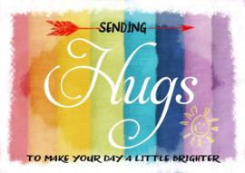 Ansichtkaart Sending a hug