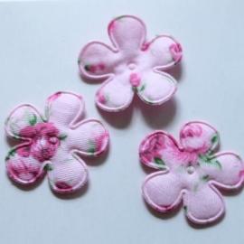 roze roosje print bloem 25mm