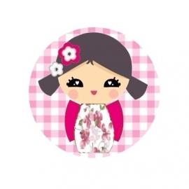 (FB10) kokeshi roze