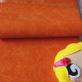 mooi VINTAGE imitatie leer oranje