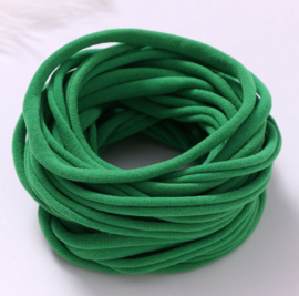 Super soft dunne nylon haarbandje groen
