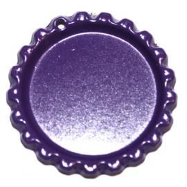 Bottlecap paars met gaatje en ringetje