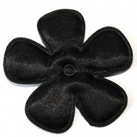 47mm zwart satijn bloem