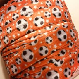 Haarband elastiek oranje voetbal