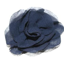 Mooie roos bloem navy 6cm