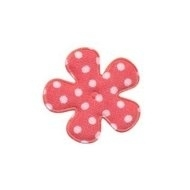 Polkadot bloem coral 25mm