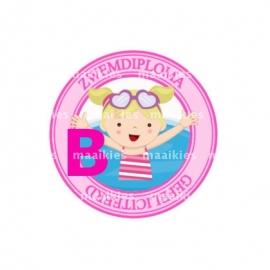 (FB507) zwemdiploma meisje B