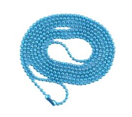 bolletjes ketting met sluiting fel blauw fijntjes