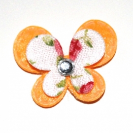 Mini dubbellaags vlinder oranje