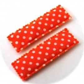 Kniphoesje oranje polkadot 1 stuks