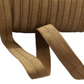 haarband elastiek mat licht bruin (15mm)
