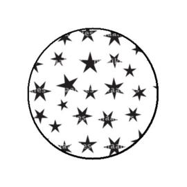 FB787 sterren wit zwart