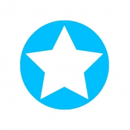 (FB157) ster blauw