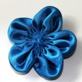 satijn bloem roset kobalt royal blauw p/s