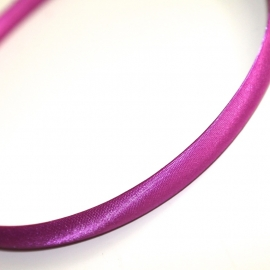 Diadeem paars satijn 10mm