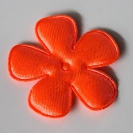 47mm neon satijn bloem oranje