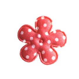 25mm dot bloem perzik / coral