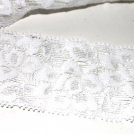mooi elastisch kant wit (40mm)