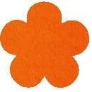 Acryl vilt oranje 45cm bij 30cm