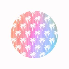 (FB630) palmbomen pastel rainbow
