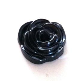 zwart parelmoer flatback roosje