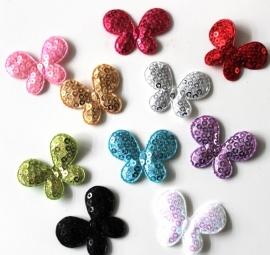Vlinder met pailletten kies je kleur