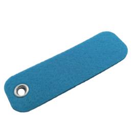sleutelhanger vilt rechthoek felblauw  (16)