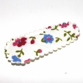 Kniphoesje ivoor bloem print 35mm