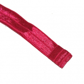 baby haarbandje stretch satijn fuchsia