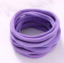 Super soft dunne nylon haarbandje paars