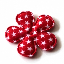 35mm sterrenprint bloem rood