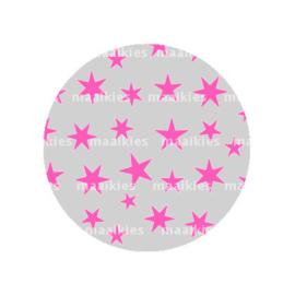 FB792 sterren fuchsia grijs