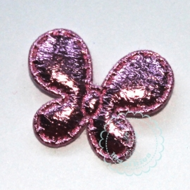 Vlinder metallic smal roze