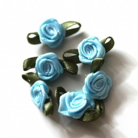 Super kwaliteit roosjes baby blauw