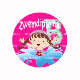 (FB869) zwemdiploma meisje B fuchsia