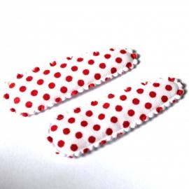 wit met rode stip hoesje  (5,0cm)
