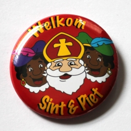 Sinterklaas button rood