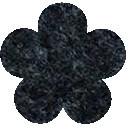 Acryl vilt gemeleerd zwart 45cm bij 30cm