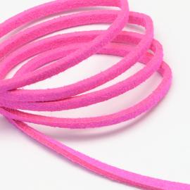 Suède veter knal roze