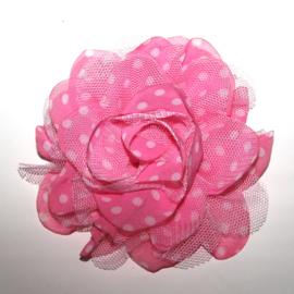 xxl bloem roze tulle stip