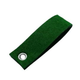 Sleutelhanger vilt rechthoek donker groen  (26)