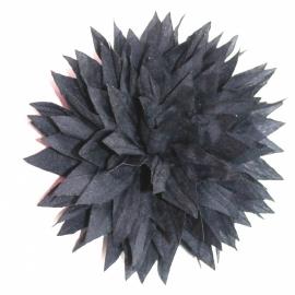Stoffen punt bloem 7,5 cm navy