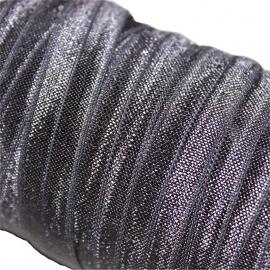 Haarband elastiek antraciet 13mm
