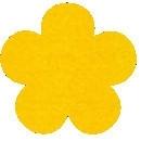 Acryl vilt geel 45cm bij 30cm